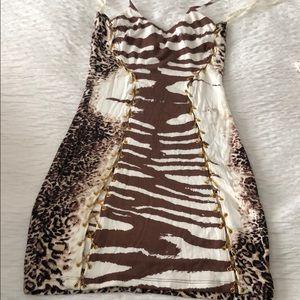 Sky Brand halter mini dress sz Medium